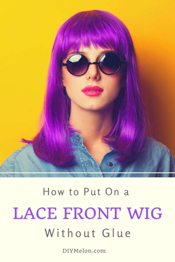 how to put on a lace front wig without glue