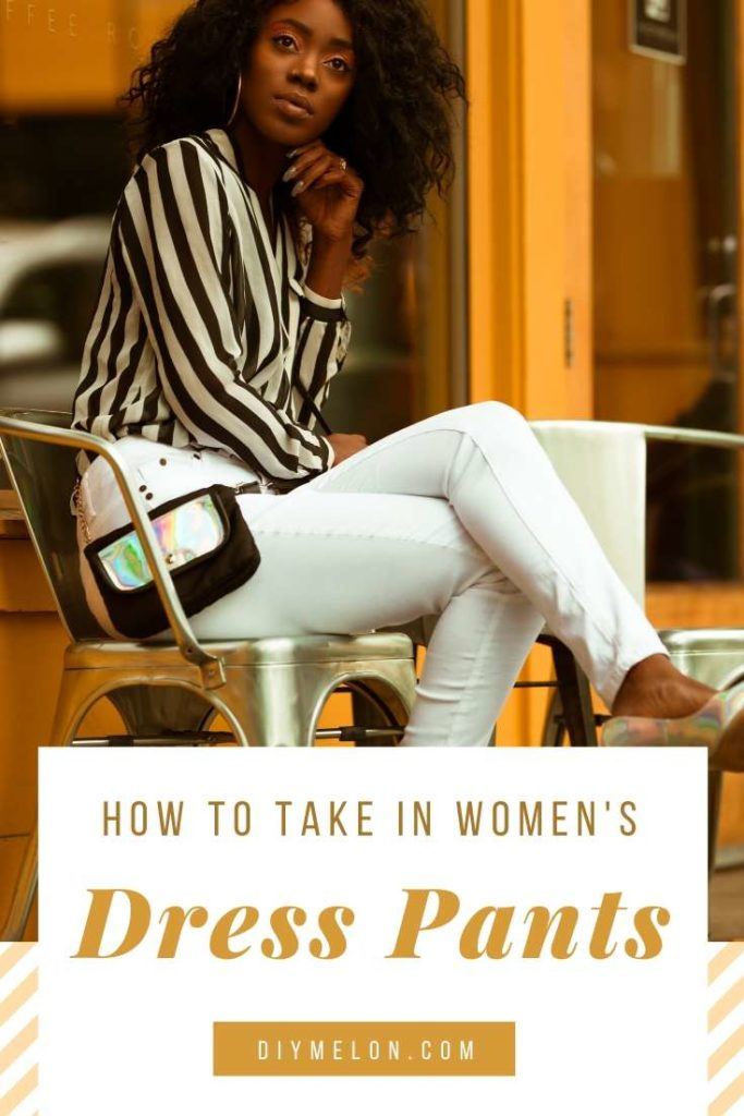 how to take in women's dress pants