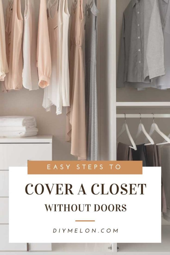 ways to cover a closet