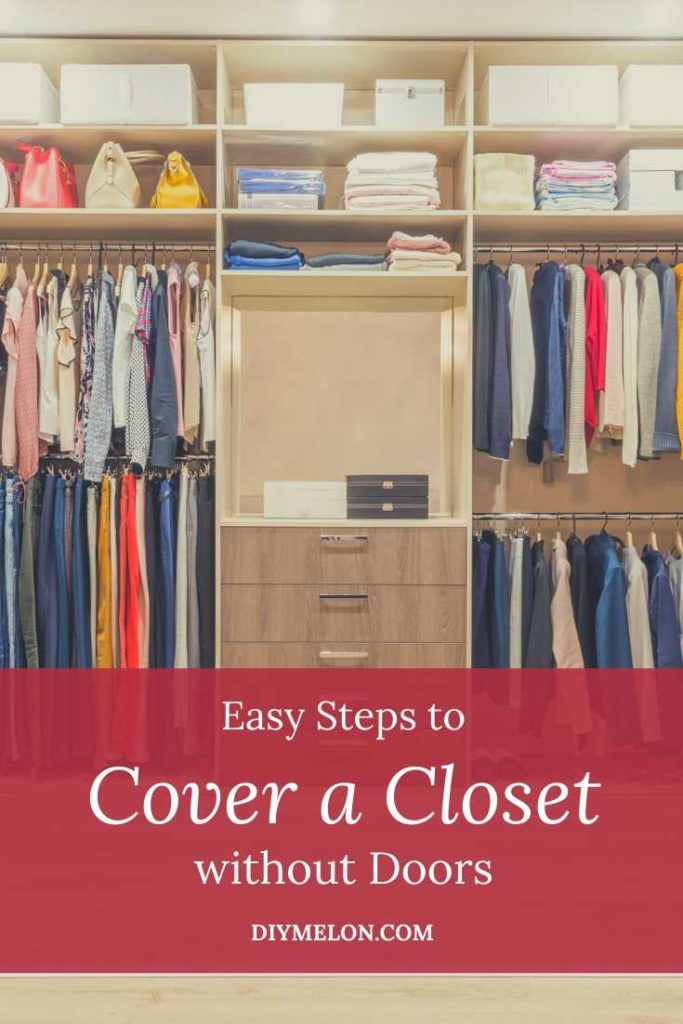 cover a closet without doors