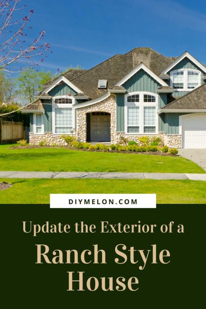 how to update the exterior of a ranch style house